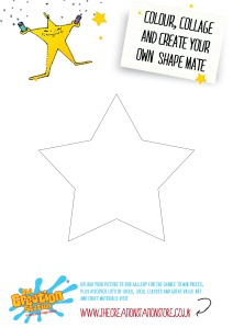 Create, colour and collage your own star shape