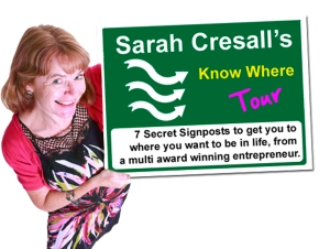 Sarah Cressall's  seven secrets signposts funder of The Creation Station