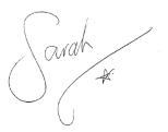 sarahs signature