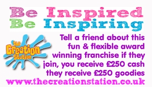 Tell a friend about the award winning Creation Station franchise and help to be inspiring.